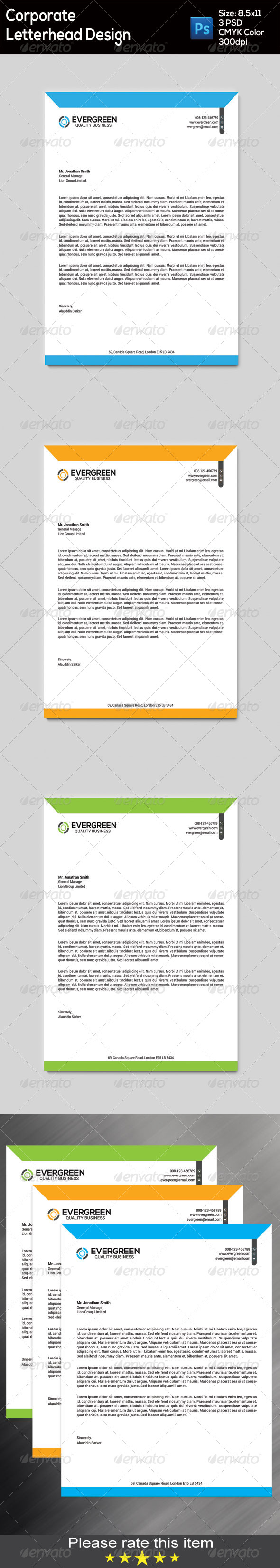 GraphicRiver Corporate Letterhead 8607521