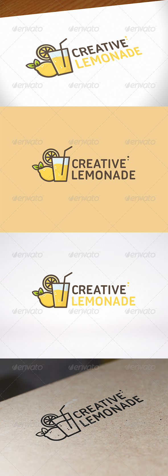 Lemon Juice Logo Template