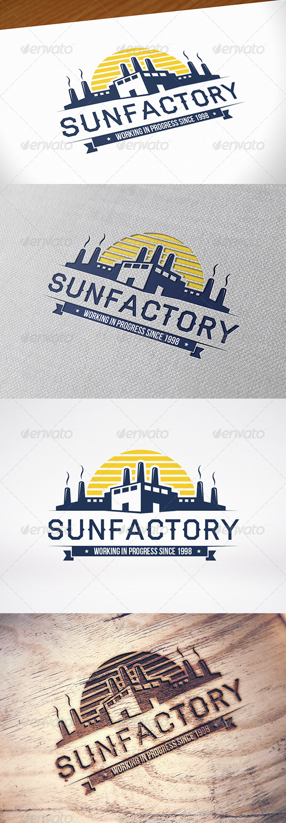 GraphicRiver Factory Emblem Logo Template 8607640