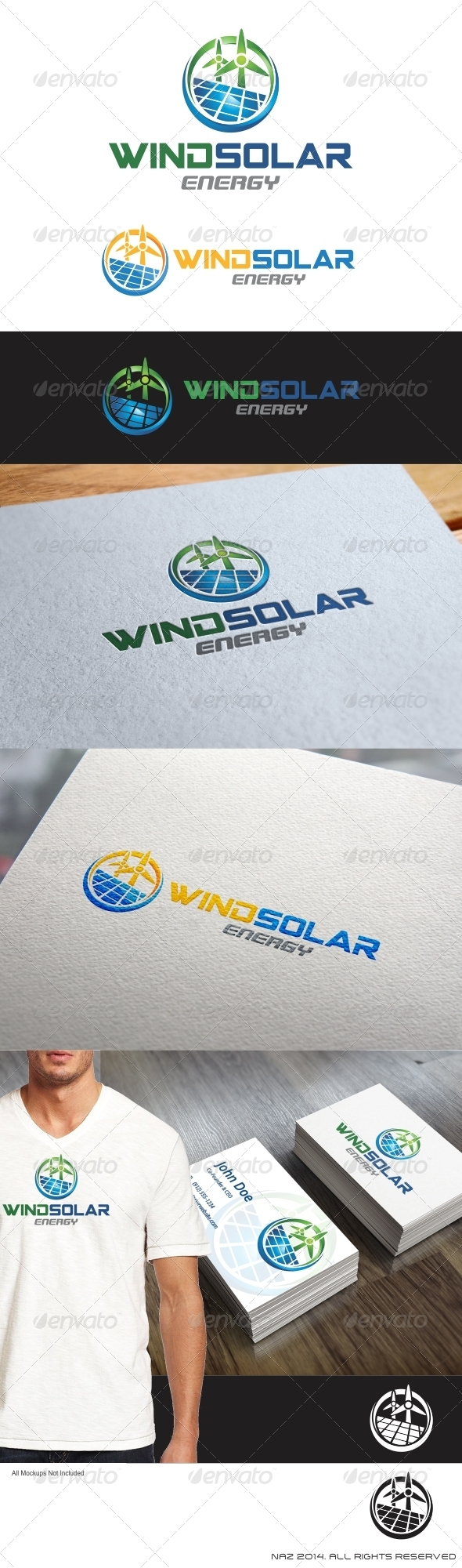 GraphicRiver Wind Solar Energy Logo 8604020
