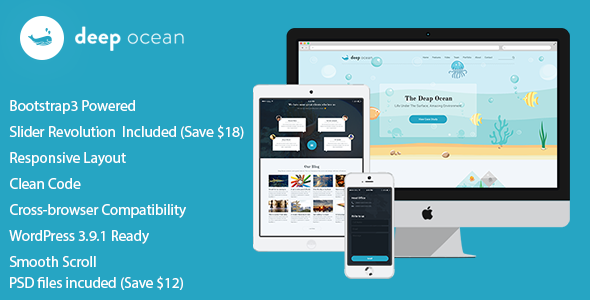 ThemeForest DeepOcean Responsive WordPress Theme 8561154