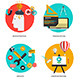 Set of Flat and Colorful Concepts Icons - GraphicRiver Item for Sale