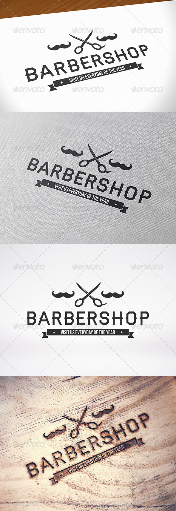 GraphicRiver Barber Shop Logo Template 8607960