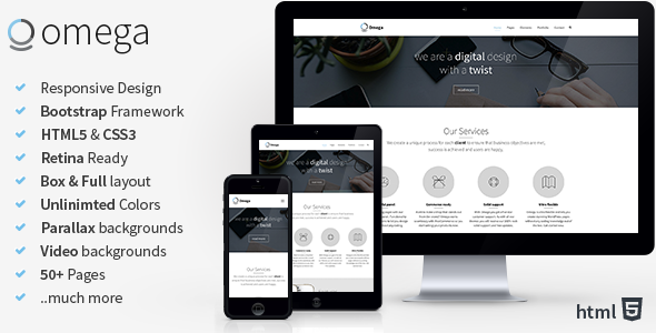 ThemeForest Omega Multi Purpose Bootstrap HTML Template 8591628