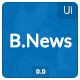 Black News UI - GraphicRiver Item for Sale