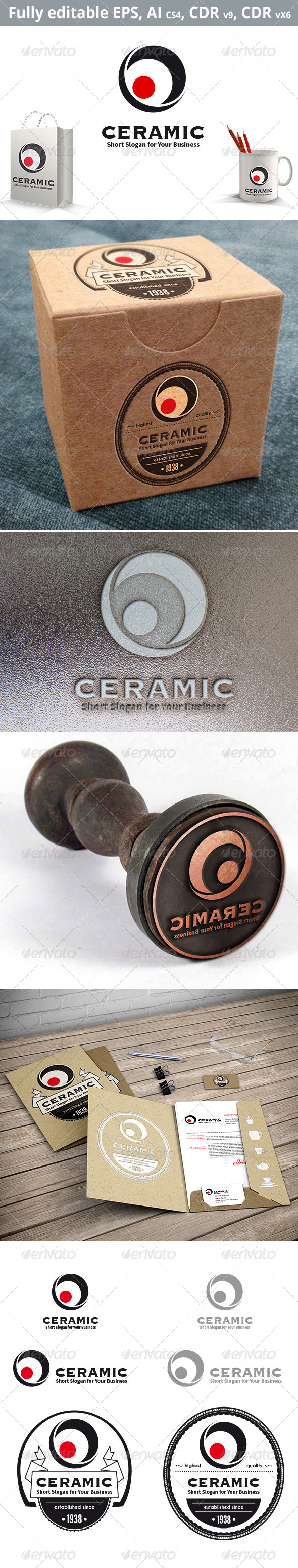 GraphicRiver Ceramic Logo Template 8608268