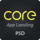 Core Mobile App Landing PSD Theme - ThemeForest Item for Sale