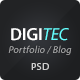 DigiTec PSD Theme - ThemeForest Item for Sale