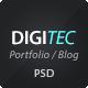 DigiTec PSD Theme - ThemeForest Item for Sale