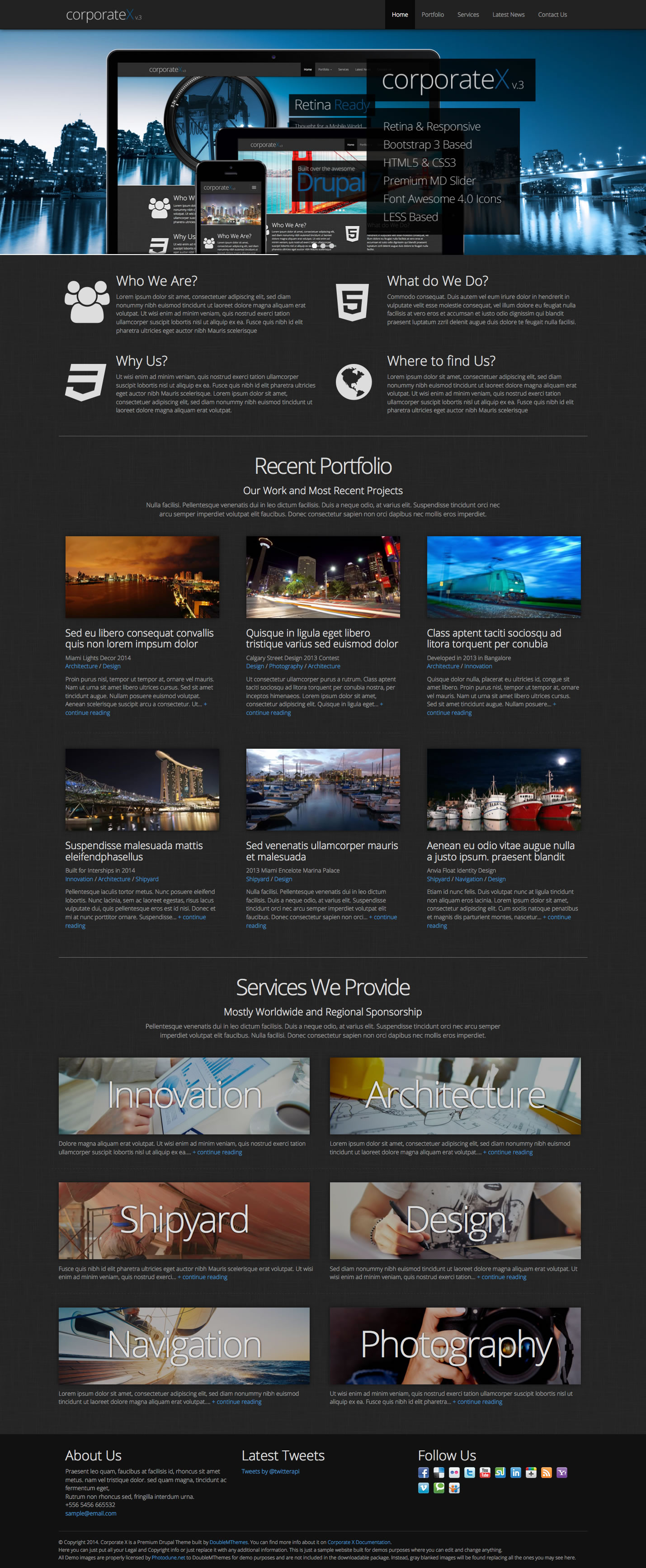 Corporate X - Bootstrap 3 Business Drupal Theme