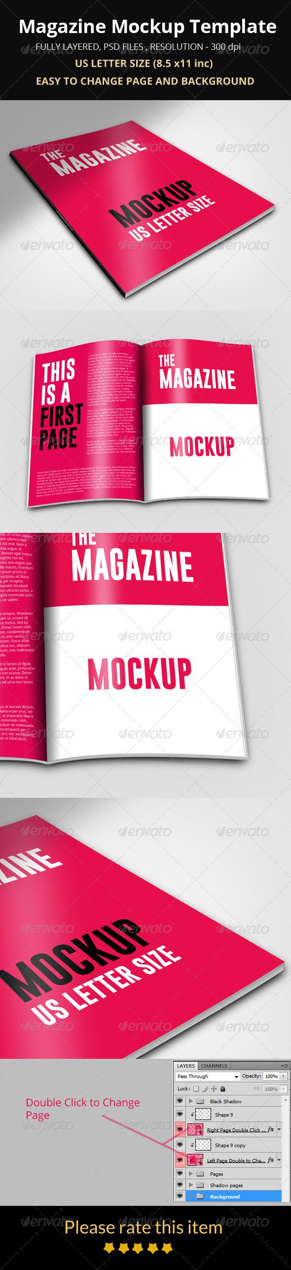GraphicRiver Magazine Mockup Template 8608381