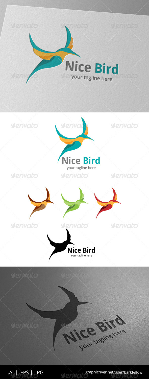 GraphicRiver Nice Humming Bird Logo 8608605