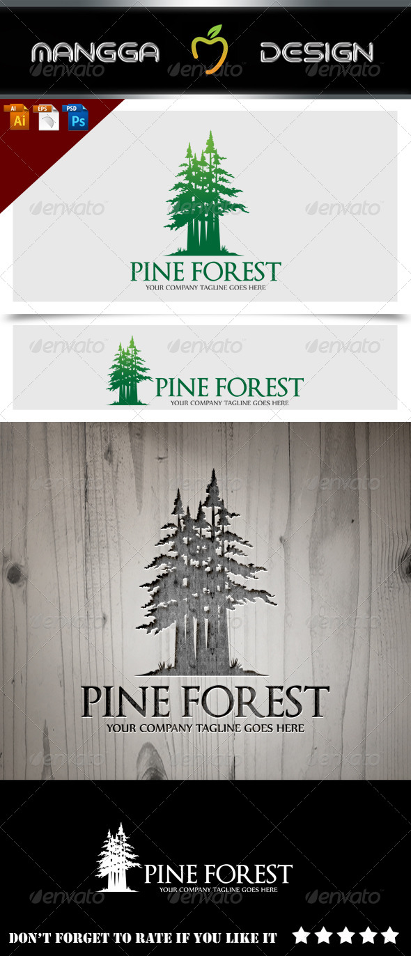 GraphicRiver Pine Forest Logo 8608608
