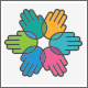 Six Help Hand Group Logo - GraphicRiver Item for Sale