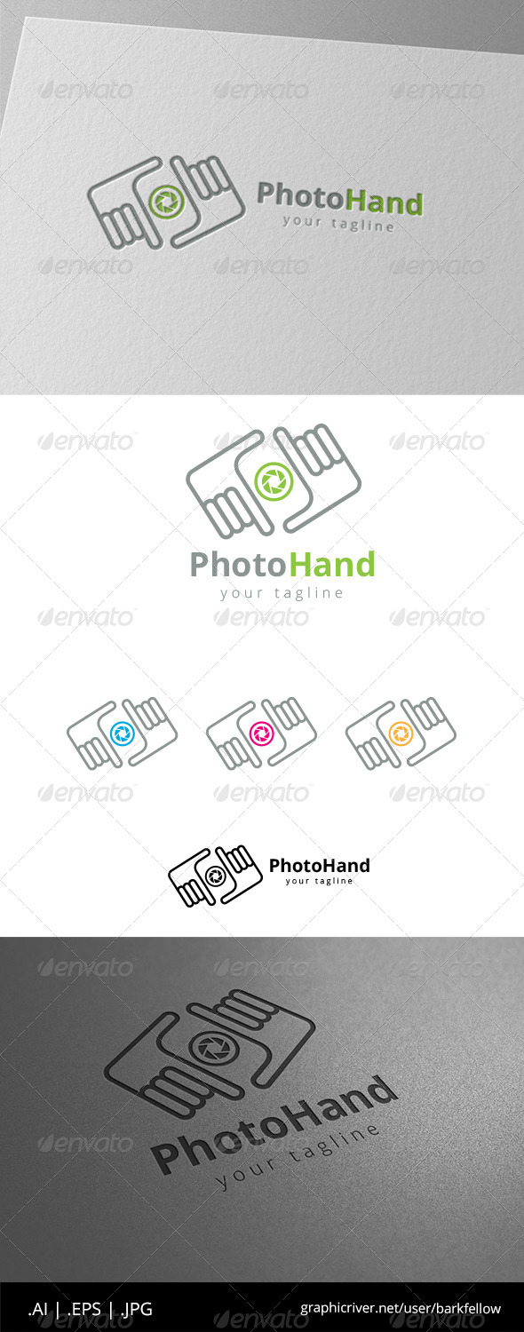 GraphicRiver Square Hand Photography Logo 8608623