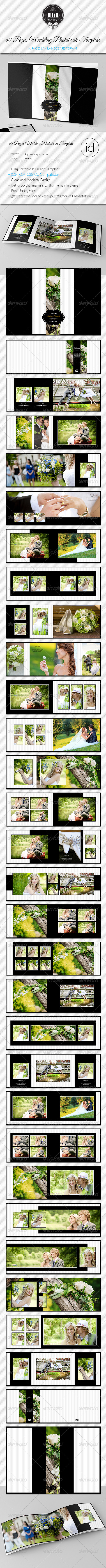 GraphicRiver 60 Pages Wedding Photobook Template 8608624