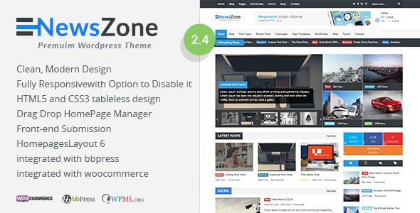 NewsZone - Responsive & Retina WordPress Magazine - News / Editorial Blog / Magazine