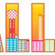 Dallas City Skyline Text Outline Color Illustration - PhotoDune Item for Sale