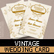 Vintage Wedding Card - GraphicRiver Item for Sale