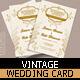 Vintage Wedding Card - GraphicRiver Item for Sale