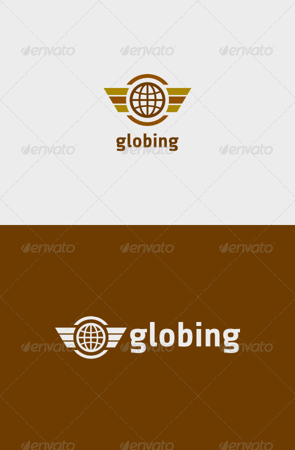 GraphicRiver Globe Wing Logo 8608842