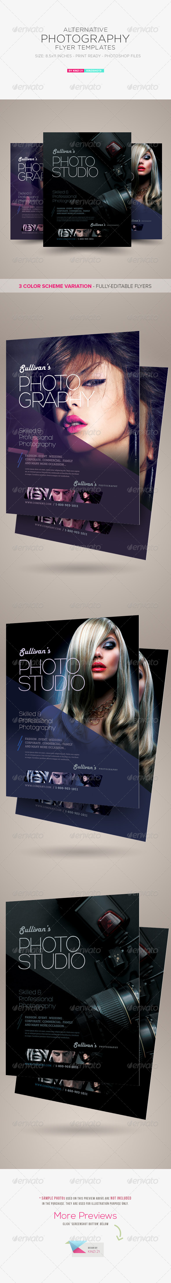 GraphicRiver Alternative Photography Flyer Template 8608944
