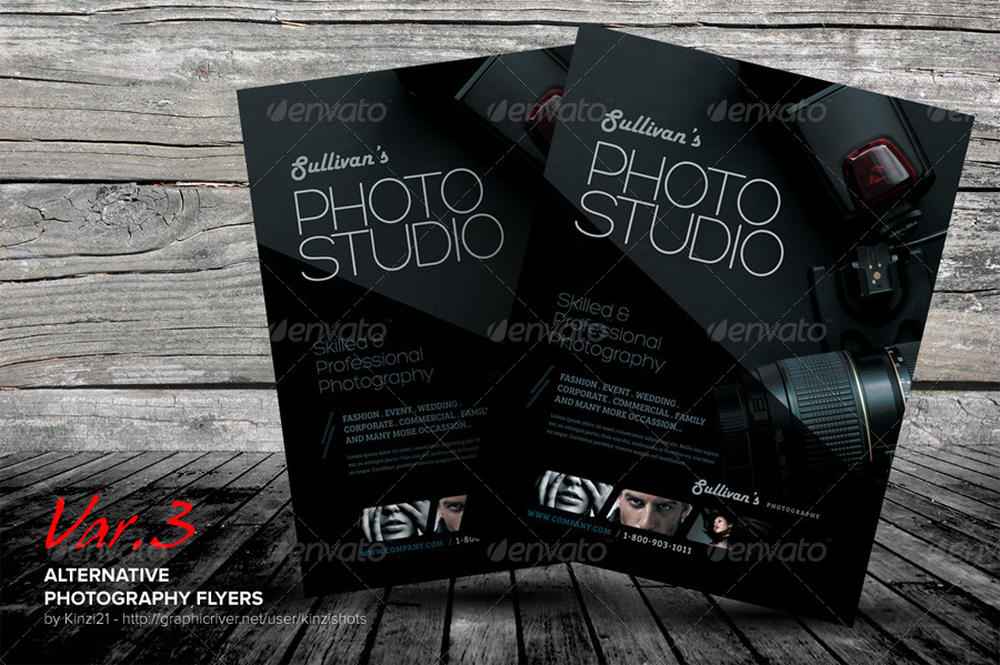 Alternative Photography Flyer Template by kinzishots – Photography Flyer