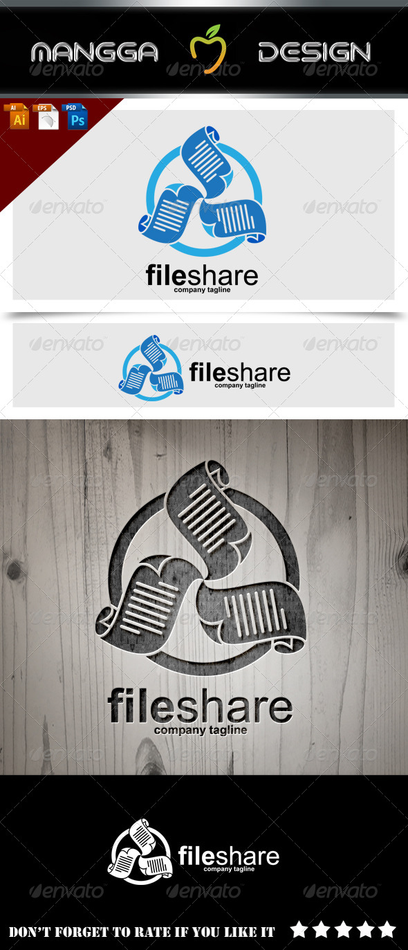 GraphicRiver File Share Logo 8608945