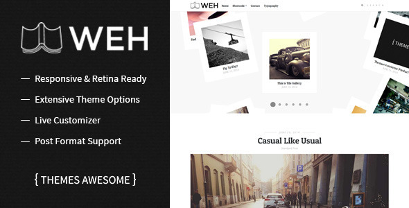 ThemeForest WEH Responsive Blog Theme 8603733