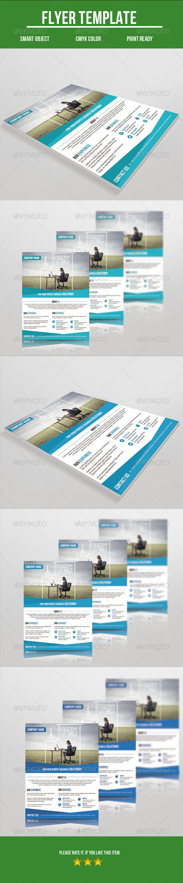 GraphicRiver Corporate Flyer 8608973