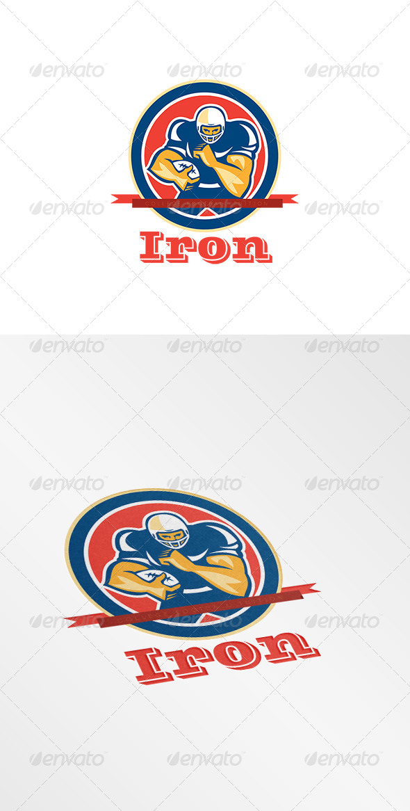 GraphicRiver Iron College Football Tuition Logo 8608976