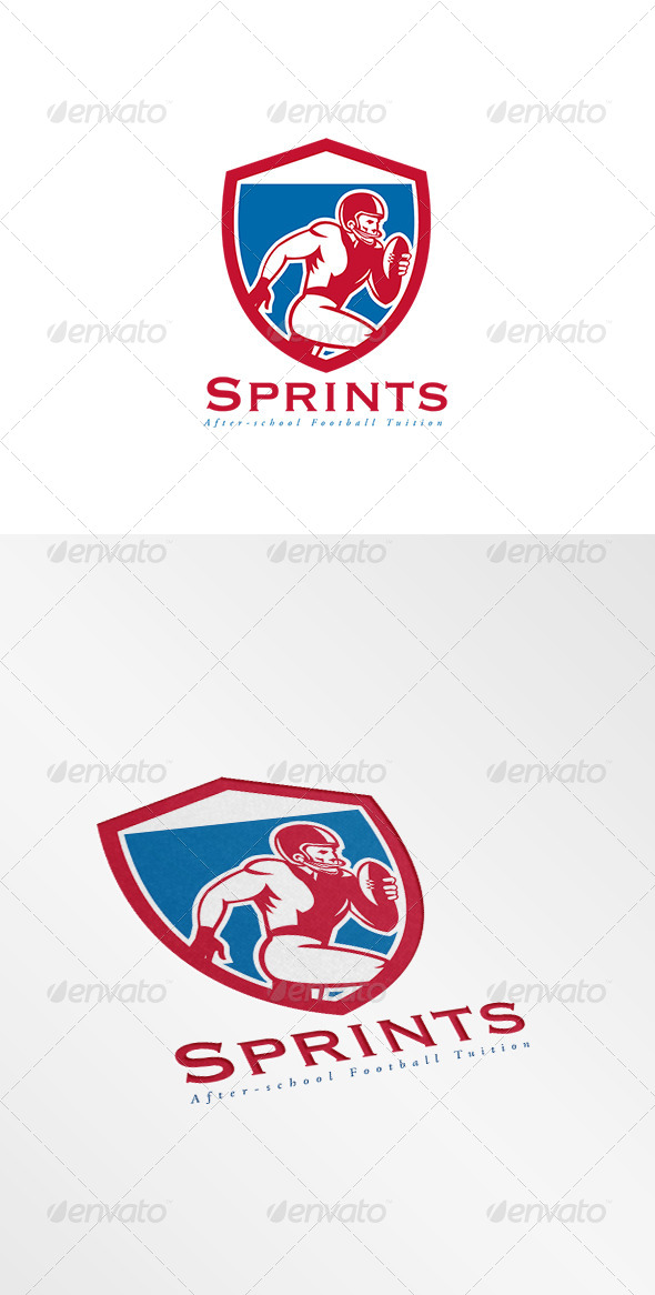 GraphicRiver Sprints After School Football Logo 8608980