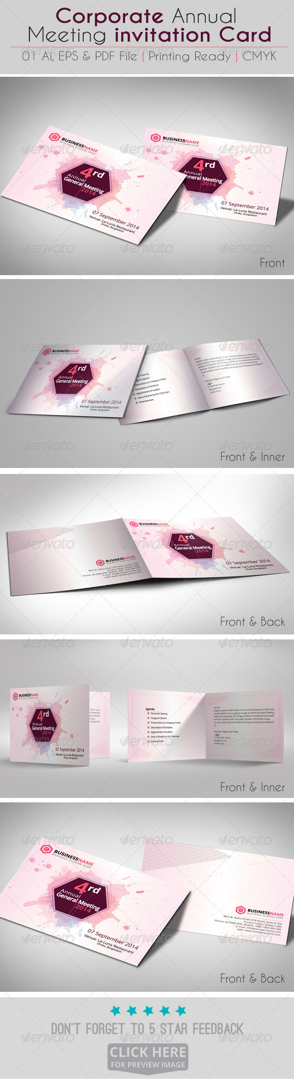 Corporate Annual Meeting invitation Card V02