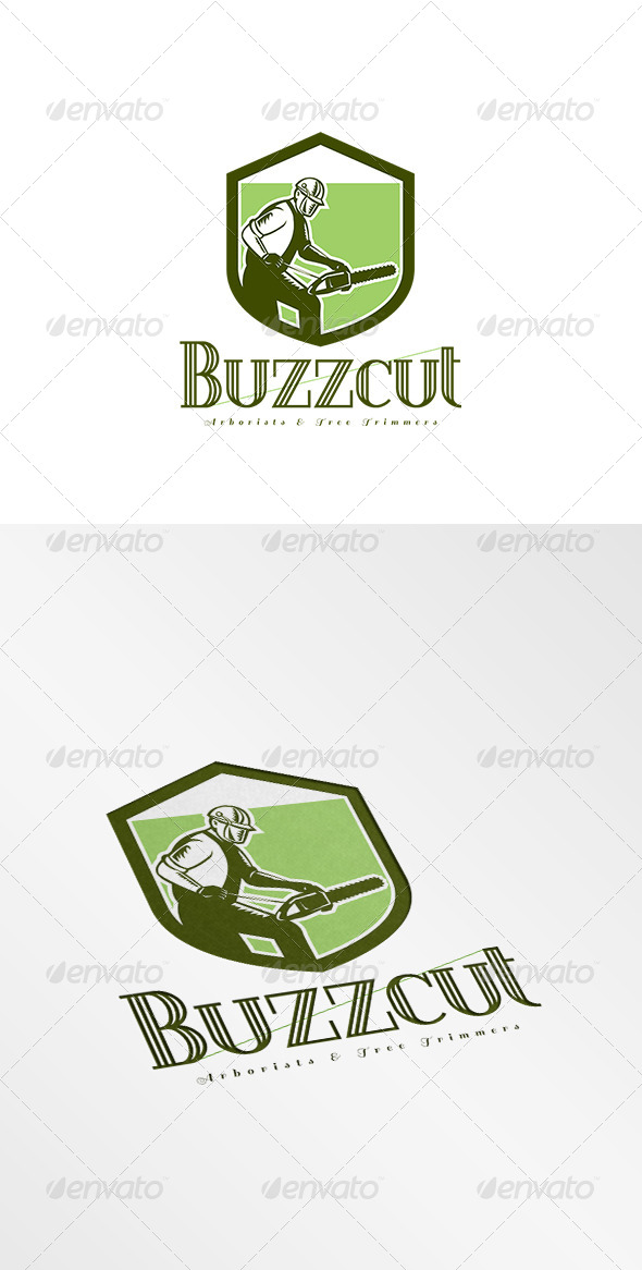 GraphicRiver Buzzcut Arborist and Tree Surgeons Logo 8608985