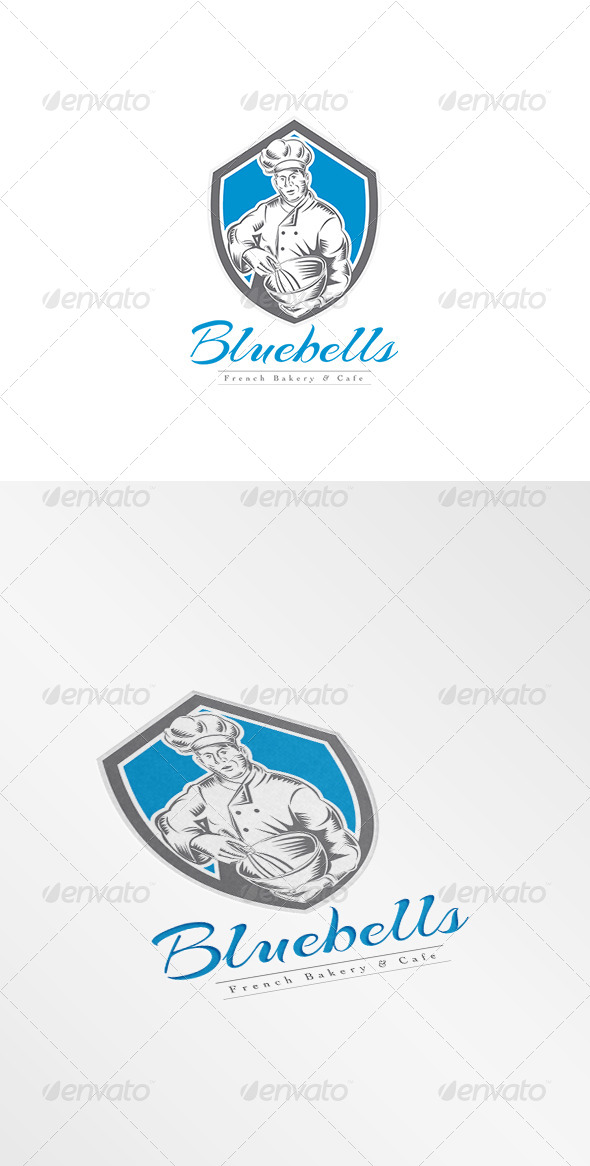 GraphicRiver Bluebellls French Bakery and Cafe Logo 8608988