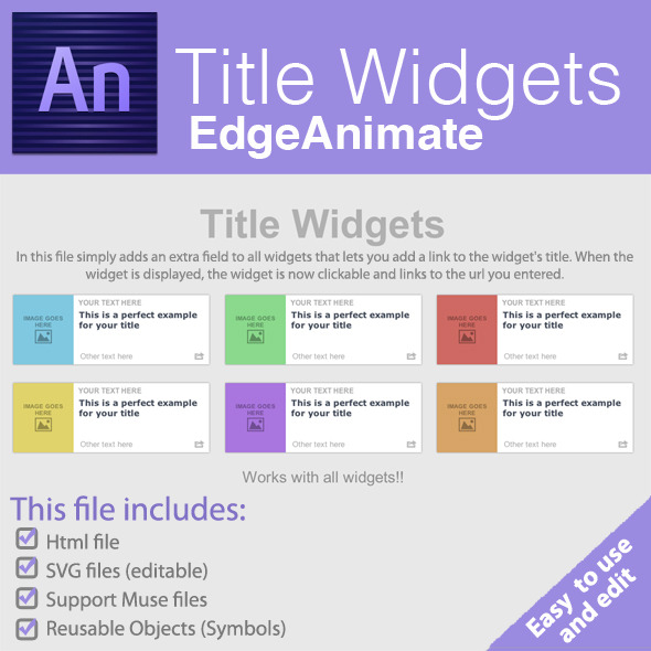 CodeCanyon Title Widgets Edge Animate 8608994