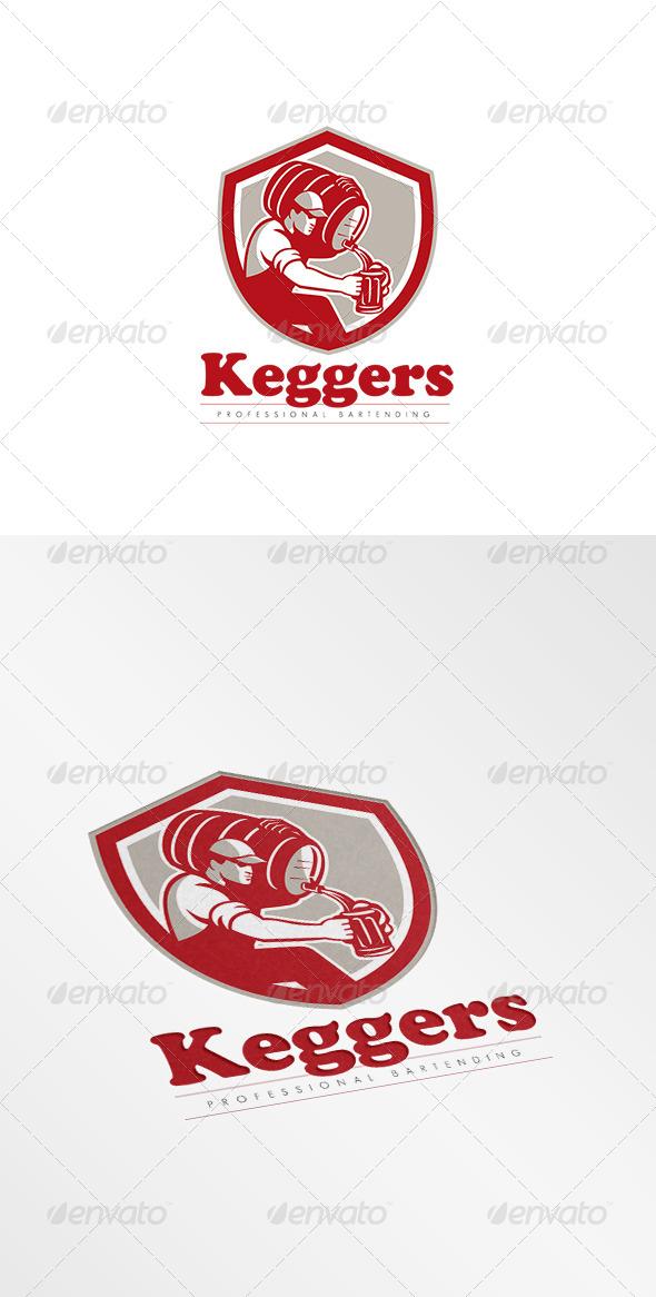 GraphicRiver Keggers Professional Bartender Logo 8609002