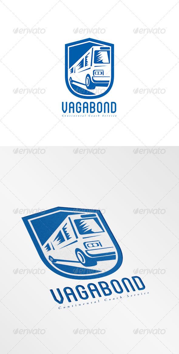 GraphicRiver Vagabond Continental Coach Logo 8609054