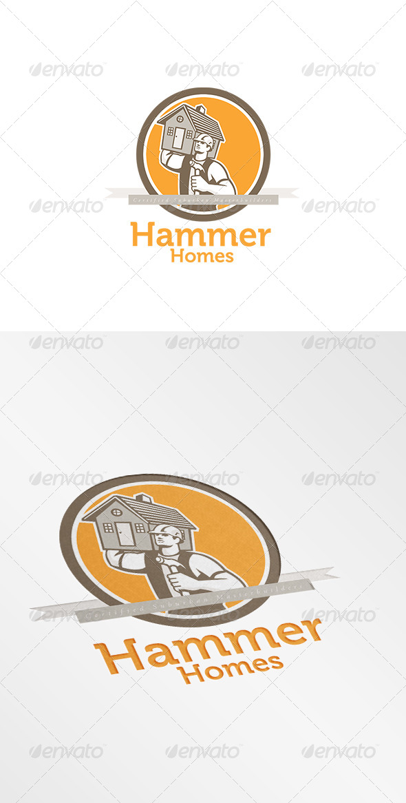 GraphicRiver Hammer Homes Master Builders Logo 8609062