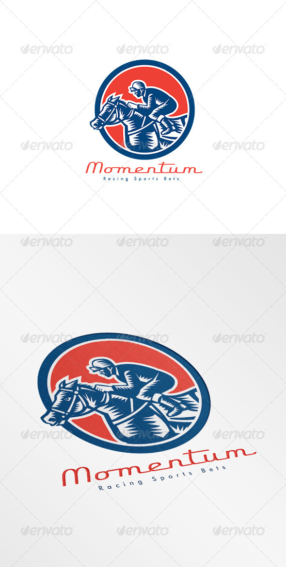 GraphicRiver Momentum Racing Sports Bet Logo 8609143