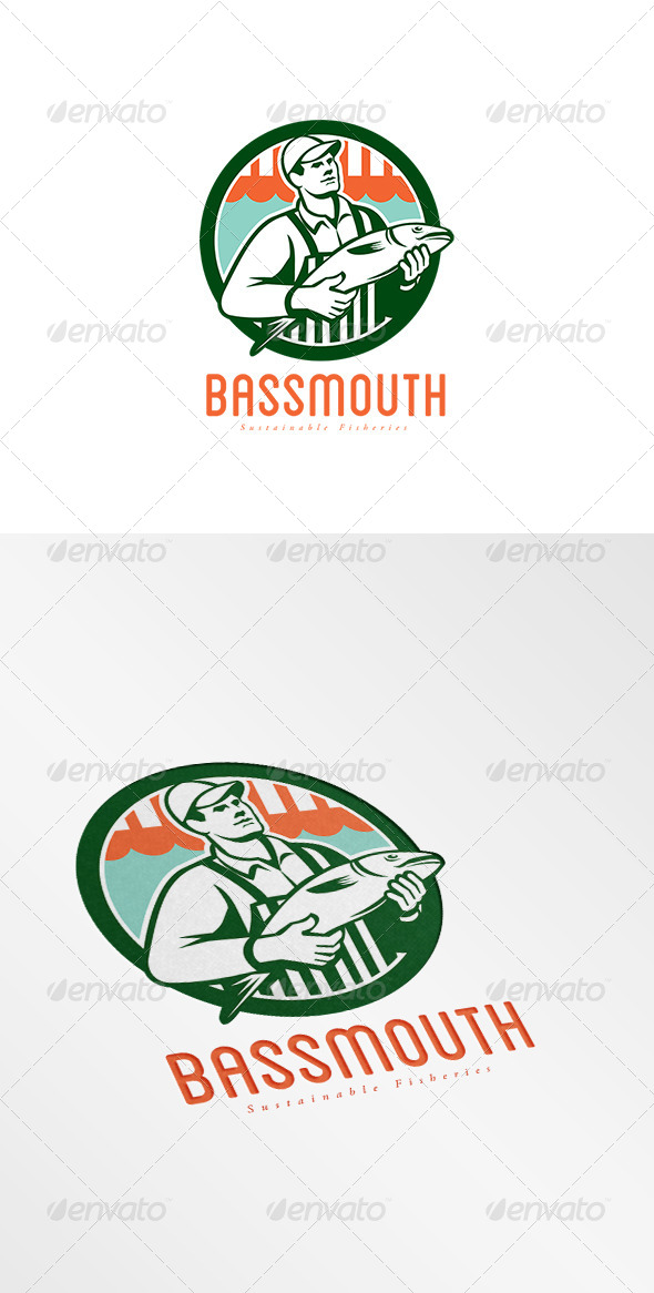 GraphicRiver Bassmouth Sustainable Fisheries Logo 8609181