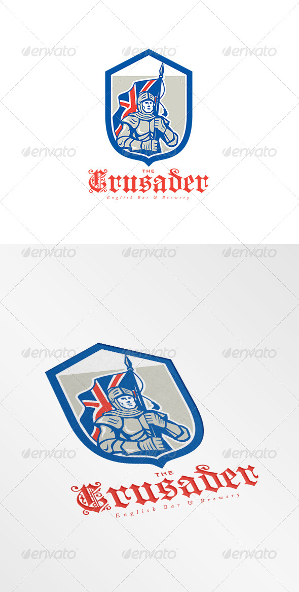 GraphicRiver The Crusader English Brewery Logo 8609221