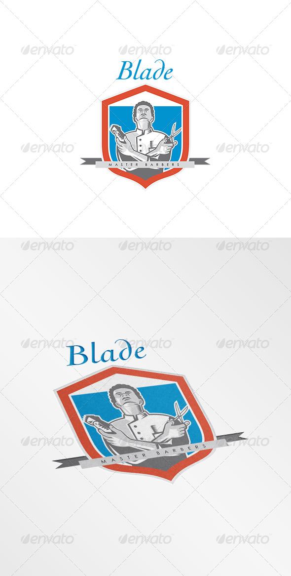 GraphicRiver Blade Master Barber Logo 8609234