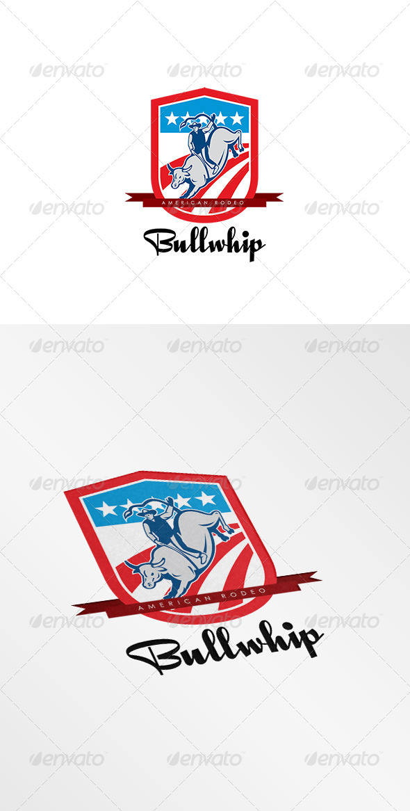 GraphicRiver Bullwhip Rodeo Logo 8609263