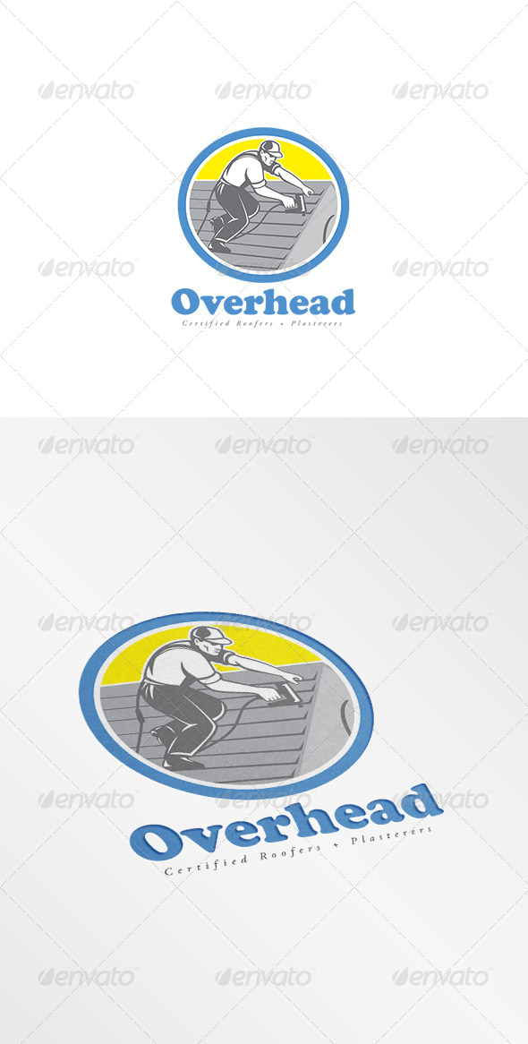 GraphicRiver Overhead Roofers Logo 8609266