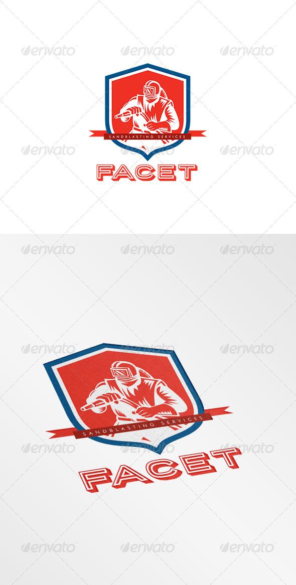GraphicRiver Paget Sandblasting Logo 8609271