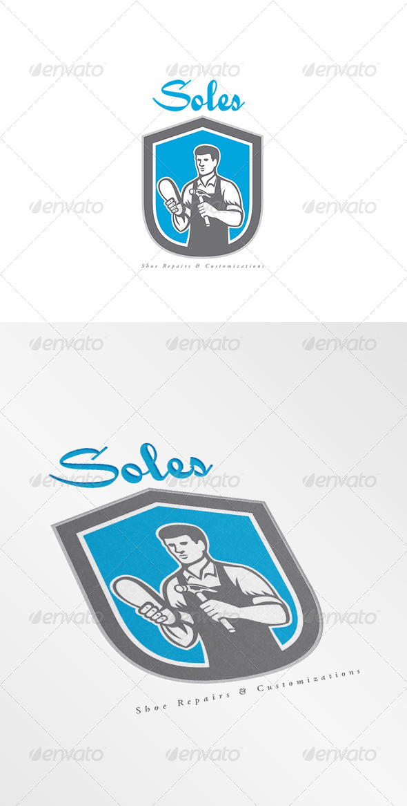 GraphicRiver Soles Shoe Repair Logo 8609275
