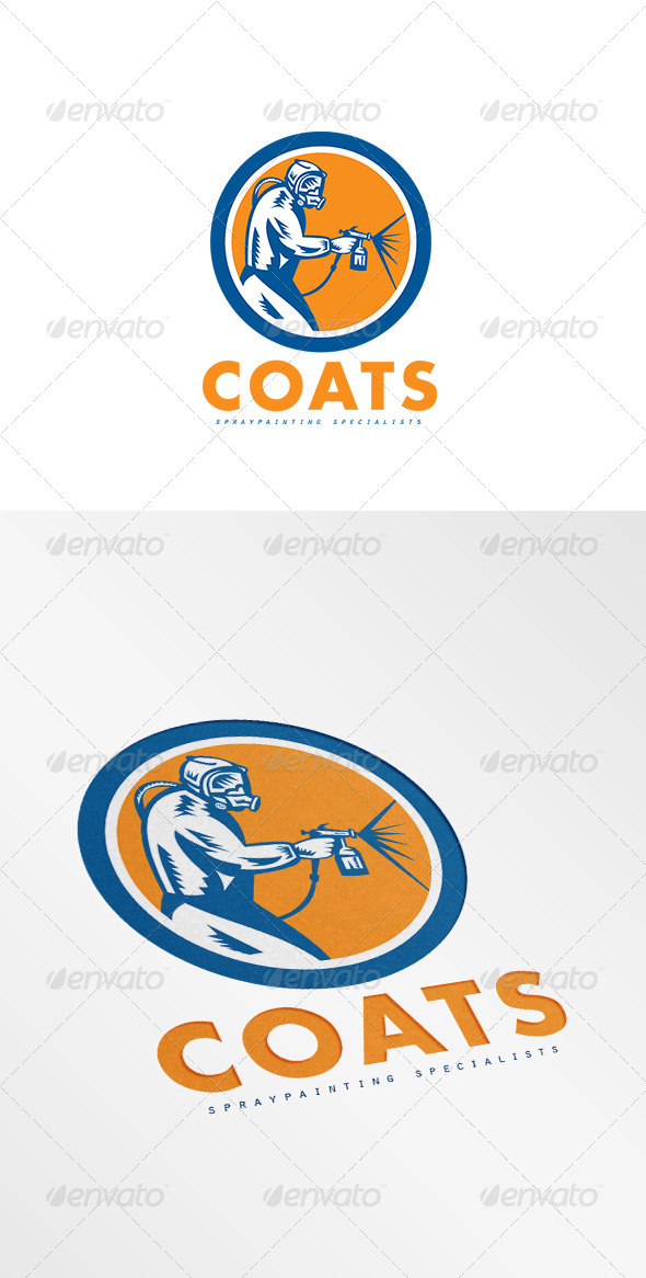 GraphicRiver Coats Spray Painting Logo 8609280