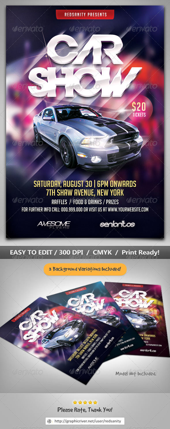 GraphicRiver Car Show Flyer 8609291
