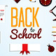 Back To School  Background With Flat Icon Set - GraphicRiver Item for Sale